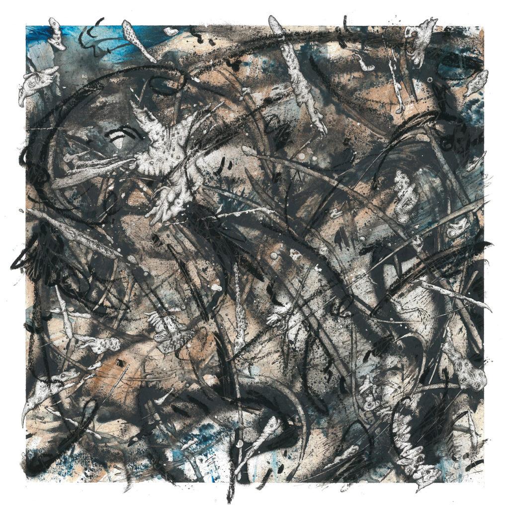 Sami-Havia_Civilized-to-Nothing,-2014,-akryyli,-vahaliitu-ja-muste-paperille,-35-x-35cm